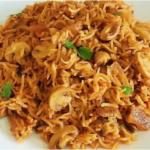 Brown Rice Mushroom Briyani