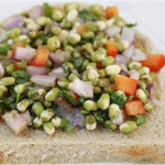 Steamed Sprouts Salad Sandwich