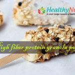 High Fiber Protein Granola Pops