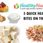 5 quick healthy bites on the go