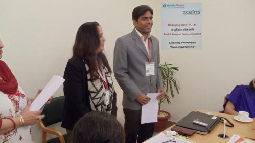 Dr Usha and Mr Deepak from Xcelris labs