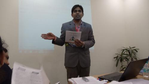 Mr Deepak from Xcelris labs introducing the course programme
